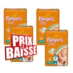 162 Couches de Pampers Sleep & Play de taille 2 sur Sos Couches