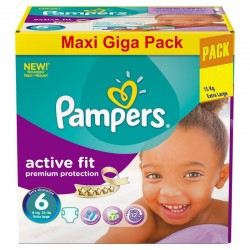 248 Couches Pampers Active Fit taille 6