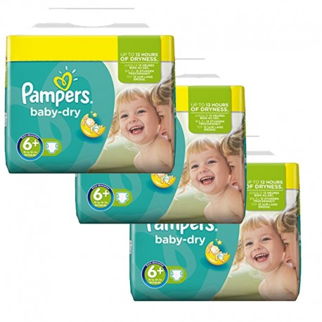114 Couches Pampers Baby Dry taille 6+ sur Sos Couches