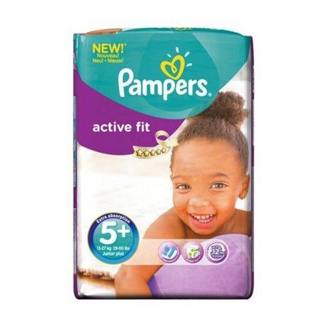48 Couches Pampers Active Fit taille 5+ sur Sos Couches