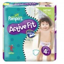 80 Couches Pampers Active Fit taille 4+ sur Sos Couches