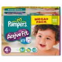 272 Couches Pampers Active Fit taille 4 sur Sos Couches