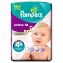 60 Couches Pampers Active Fit taille 4+ sur Sos Couches