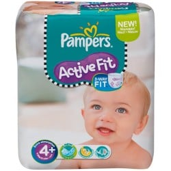 21 Couches Pampers Active Fit 4+