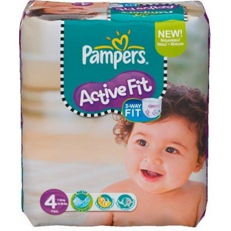 270 Couches Pampers Active Fit 4 sur Sos Couches