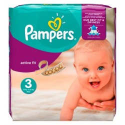 62 Couches Pampers Active Fit 3