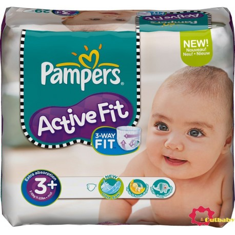 70 Couches Pampers Active Fit taille 3+ sur Sos Couches