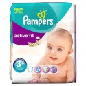 80 Couches Pampers Active Fit taille 3+ sur Sos Couches