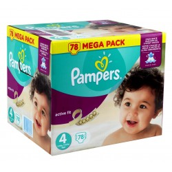 78 Couches Pampers Active Fit 4