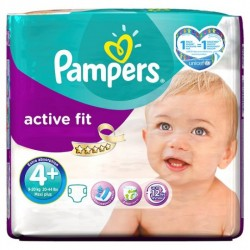 50 Couches Pampers Active Fit taille 4+