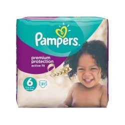31 Couches Pampers Active Fit taille 6