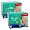 288 Couches Pampers Active Baby Dry taille 6 sur Sos Couches