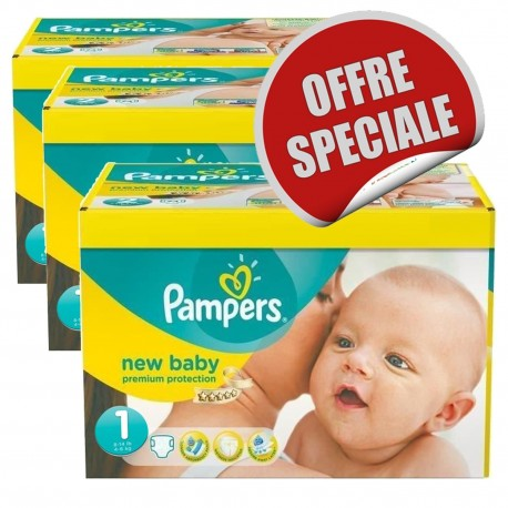 516 Couches Pampers New Baby Dry taille 1 sur Sos Couches