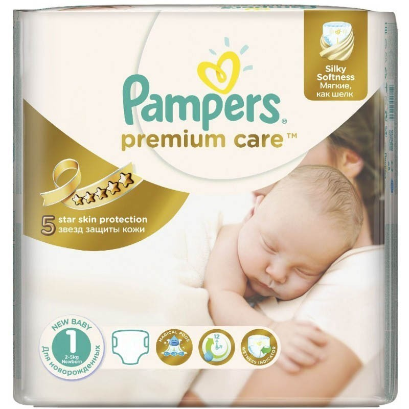 achat 41 couches pampers premium care taille 1 bas prix. Black Bedroom Furniture Sets. Home Design Ideas