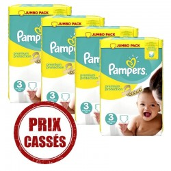 200 Couches Pampers Premium Protection taille 3