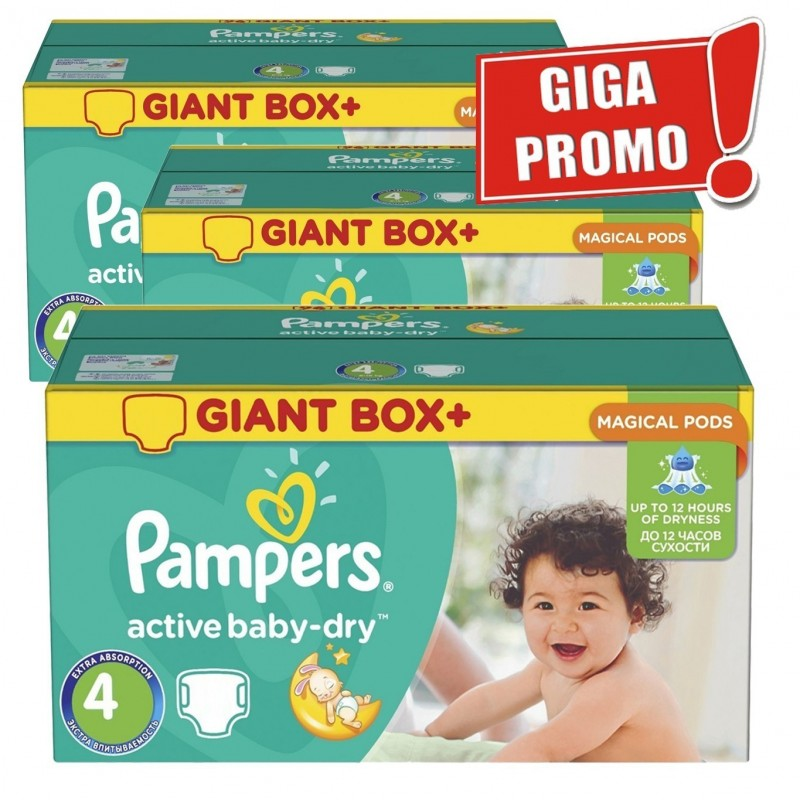 Achat 616 Couches Pampers Active Baby Dry Taille 4 A Bas Prix Sur