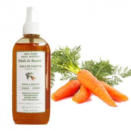 Huile de beauté à la Carotte 100% pure végétales sur Sos Couches
