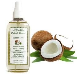 Huile de beauté au coco 100% pure et végétale