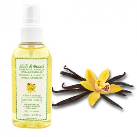 Huile de beauté à la vanille 100% pure et végétale sur Sos Couches