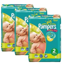 220 Couches Pampers Baby Dry taille 2