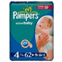 62 Couches Pampers Active Baby taille 4 sur Sos Couches