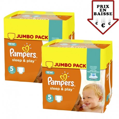 476 Couches Pampers Sleep & Play taille 2 sur Sos Couches