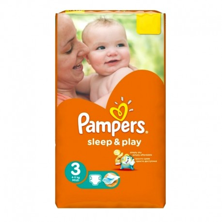 16 Couches Pampers Sleep & Play taille 3 sur Sos Couches