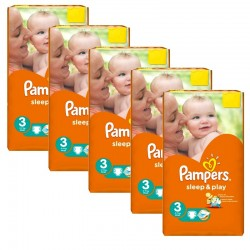 112 Couches Pampers Sleep & Play taille 3