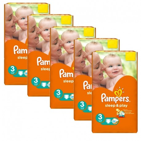 112 Couches Pampers Sleep & Play taille 3 sur Sos Couches