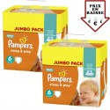 348 Couches Pampers Sleep & Play taille 6 sur Sos Couches