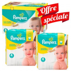 672 Couches Pampers Premium Protection - New Baby taille 4