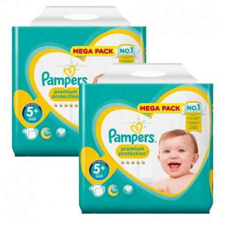 256 Couches Pampers Premium Protection - New Baby taille 5+ sur Sos Couches