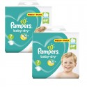 112 Couches Pampers Baby Dry taille 7 sur Sos Couches