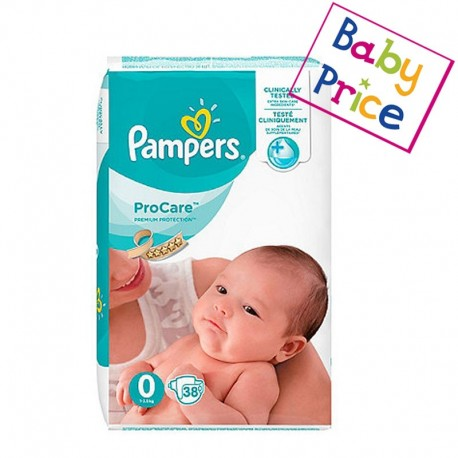 38 Couches Pampers ProCare Premium protection taille 0 sur Sos Couches