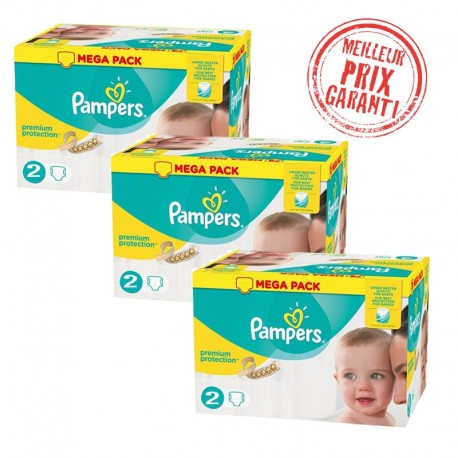 720 Couches Pampers New Baby - Premium Protection taille 2 sur Sos Couches