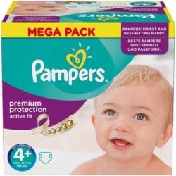 62 Couches Pampers Active Fit taille 4+