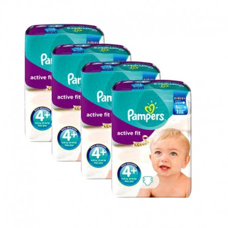 248 Couches Pampers Active Fit taille 4+ sur Sos Couches