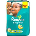 28 Couches Pampers Baby Dry taille 5+ sur Sos Couches