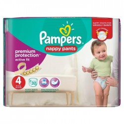 32 Couches Pampers Active Fit Pants taille 4