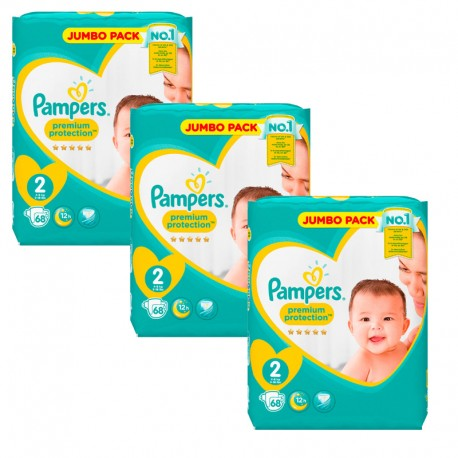 204 Couches Pampers New Baby - Premium Protection taille 2 sur Sos Couches