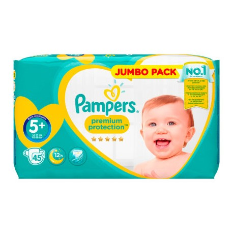 45 Couches Pampers New Baby taille 5+ sur Sos Couches