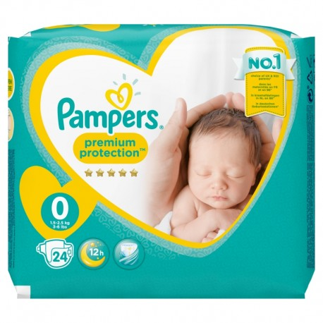 24 Couches Pampers New Baby Premium Protection taille 0 sur Sos Couches