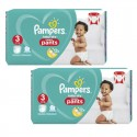 160 Couches Pampers Baby Dry Pants taille 3 sur Sos Couches