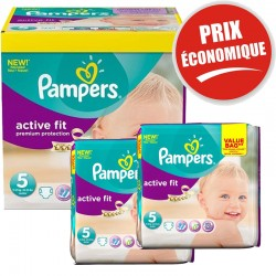376 Couches Pampers Active Fit taille 5