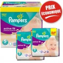 376 Couches Pampers Active Fit taille 5 sur Sos Couches