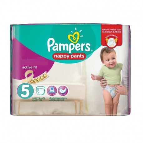 30 Couches Pampers Active Fit Pants taille 5 sur Sos Couches