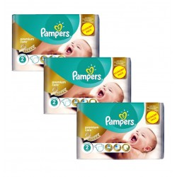 190 Couches Pampers New Baby Premium Care taille 2