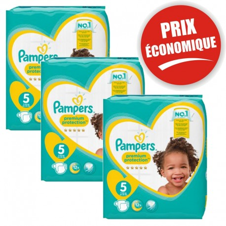 120 Couches Pampers New Baby - Premium Protection taille 5 sur Sos Couches