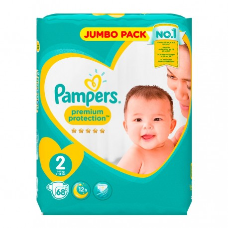 68 Couches Pampers New Baby - Premium Protection taille 2 sur Sos Couches