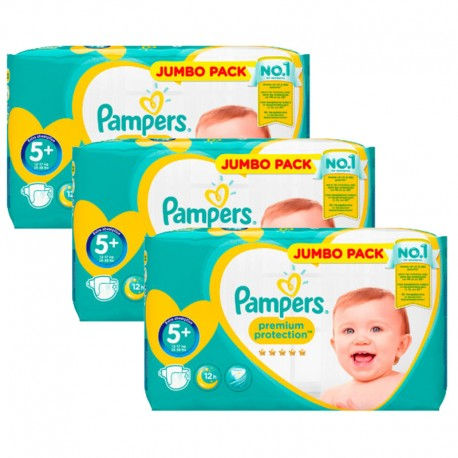 135 Couches Pampers New Baby - Premium Protection taille 5+ sur Sos Couches